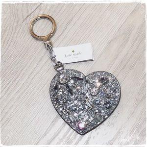 NWT! Kate Spade Jeweled Heart Key Fob Purse Charm